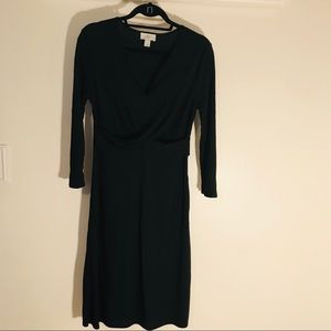 Ann Taylor Loft Dress Black  long sleeve size 6